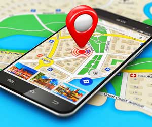 Location map on phone